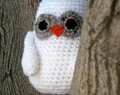 Hedwig - a crocheted snowy owl friend
