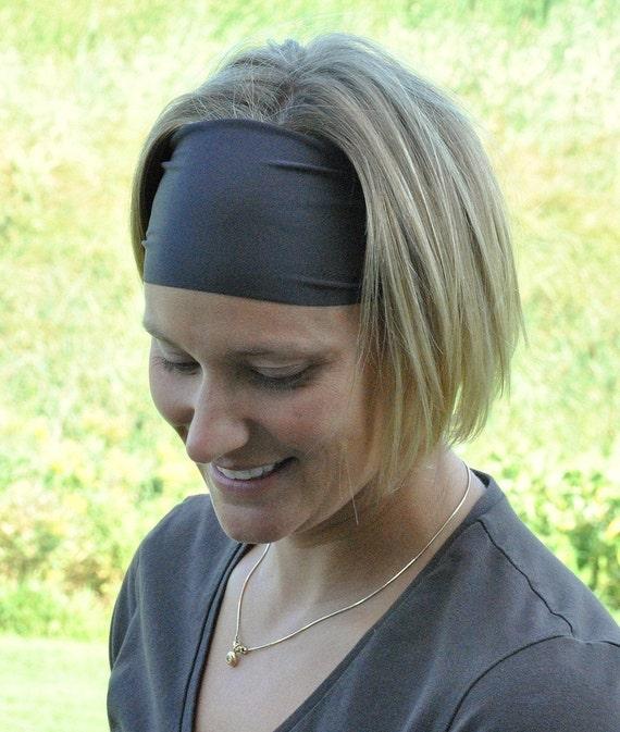 Performance Headband |Workout Headband | Fitness Headband | Yoga Headband |Solid Basic Brown