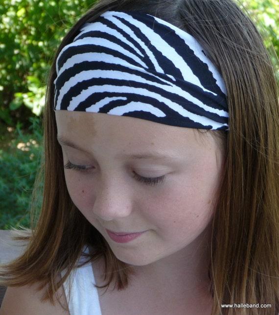 Zebra Print Stretch Headband