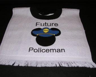 Mickey Policeman  Bib