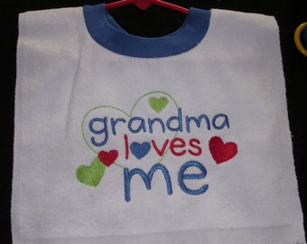 Grandma Loves Me Bib