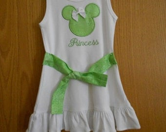 Girl's Mickey Dress with Ruffle