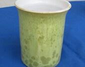 Vase, Ceramic Pottery Flower Vase Ceramic Vase Ceramic Pottery Gift  Porcelain Vase Crystalline  Pottery Green Handmade Pottery Brush Holder