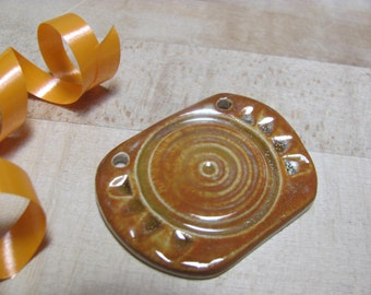 Jewelry Supplies  Pendant  Stoneware Ceramics  Pottery
