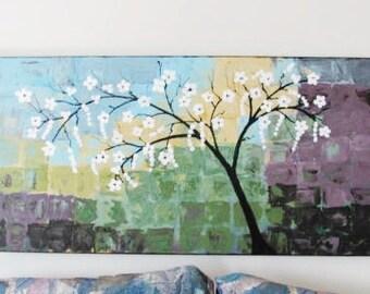 Abstract Painting  Acrylic Original Landscape Modern  Art  Original Wall Art Palette Knife Texture