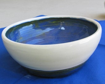 Pottery Bowl Ceramic Rice Bowl Soup Bowl Serving Bowl Tableware Home DecorHandmade Kitchen Ceramic Pottery Stoneware Blue and White