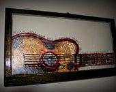Jamin' Guitar Window Painting