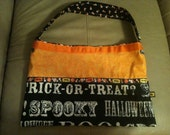 SALE halloween shoulder bag - trick or treat