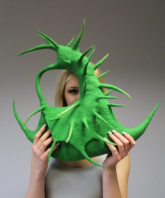 """Felted handbag """"Cactus II"""""""