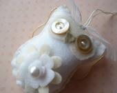 whimsical winter white angel owl ornament
