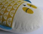 CUSTOM ORDER for Paullline - Hand Screen Printed Owl in Yellow