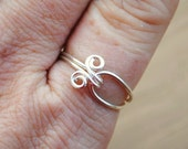 Wire Ring Silver Simple Embrace Non Tarnish Silver Plated Wire