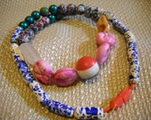 Ca Late 1960s New Orleans Mardi Gras Beads - Multicolored Plastic - Hand Strung