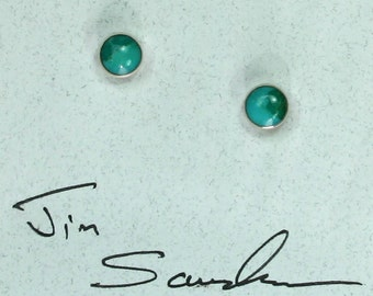 Turquoise dot stud  earrings