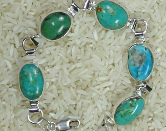 Turquoise link bracelet , Js-br-007