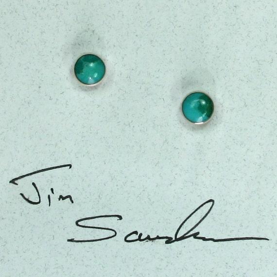 Turquoise dot stud  earrings
