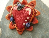 Sacred heart Brooch 5