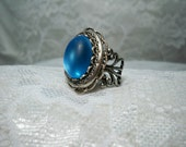 Sale - Ring - Vintage Style Ring -  Blue Moon Glo Ring - Free Shipping
