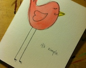 Handmade It's Simple I love you Birdie Card - Just Because, Valentine's Day, Love