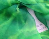 Hand Dyed Silk Shibori Wrap/ Scarf