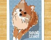 Pomeranian Art Print Funny Dog Art - Seat Thief - Pomeranian Gifts Dog Pop Art