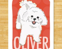 Personalized Custom Bichon Frise Art Print - Dog Pop Art Bichon Frise Gifts for Dog Lovers