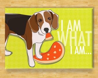 Beagle Magnet - I Am What I Am - Beagle Gifts Dog Refrigerator Fridge Magnets