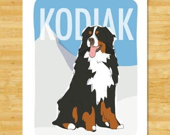 "Shop ""bernese mountain dog"" in Pet Portraits"