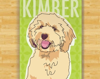 Personalized Labradoodle Custom Dog Magnet Gift