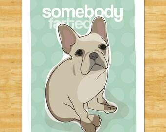 French Bulldog Art Print - Somebody Farted - Funny Fawn French Bulldog Gifts Dog Pop Art