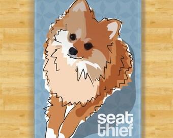 Pomeranian Refrigerator Magnet - Seat Thief - Pomeranian Gifts Fridge Dog Refrigerator Magnets