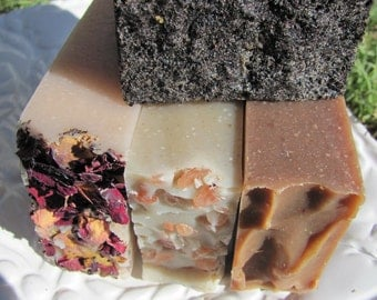 FREE SHIPPING. SALE. All Natural Soap Cold Process Handmade Goat Milk and Vegan Soap (4) Bars