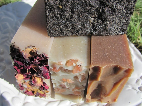 Organic Soap. FREE SHIPPING. SALE. All Natural Soap. Vegan Soap. Cold Process Soap. Handmade Soap. Goat Milk Soap.  (4) Bars
