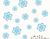 Flowers Set of 12, Flowers 12 Pack, vinyl wall decals, living room, nursery, kids & teens room, removable decals stickers