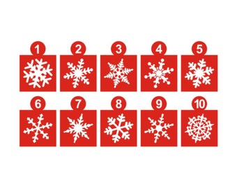 "2"" Snowflakes Vinyl Decals Pack of 30"