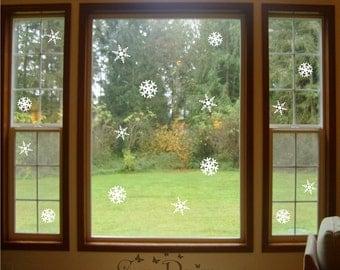 16 Snowflakes Vinyl Decals 2 sizes