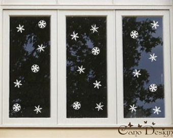 "3"" Snowflakes Vinyl Decals Pack of 21"