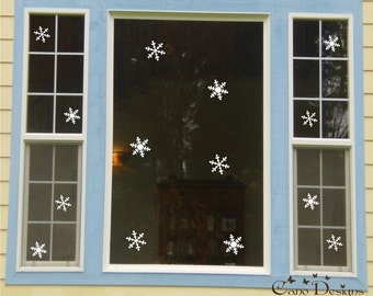 14 Snowflakes Vinyl Decals 2 sizes