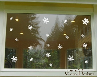 20 Snowflakes Vinyl Decals 3 sizes