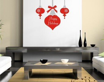 holidays Ornaments vinyl decals, christmas decals, wall decor decals stickers