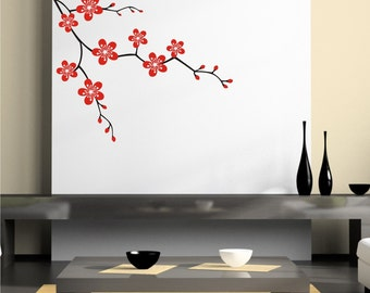 Branch vinyl wall decal, Blossom Wall Decal Sticker, removable wall decal decor sticker