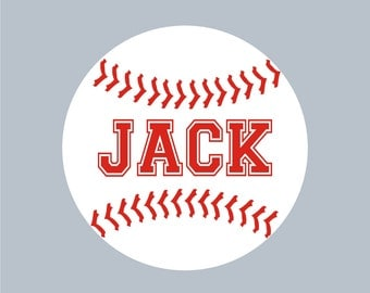 Baseball Personalized Name, Custom Vinyl wall decals stickers, nursery, kids & teens room, removable decals stickers