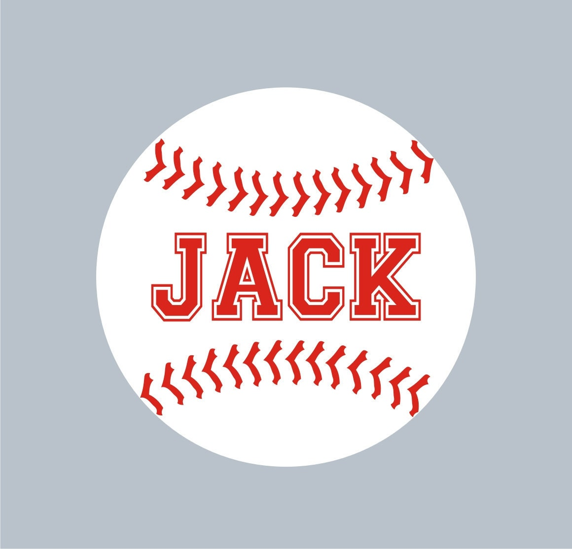 Baseball Personalized Name Custom Vinyl wall decals stickers