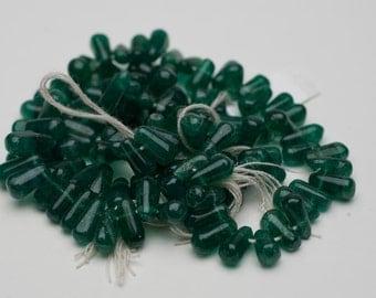 4mm Pine Green Aventurine Round Briolette Beads - 15 inch strand - 90 pieces