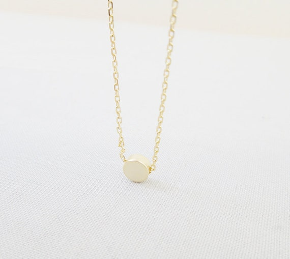 Karma Circle Dot Necklace - 14k gold filled necklace, gift ideas, gift for her