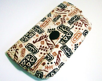 Geometric Print Clutch. Abstract Pattern Clutch Purse
