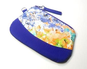 Monay Zipper Pouch Purple Orange Teal