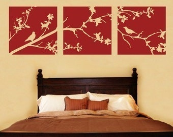 Whimsical Tree Bird Branch Vinyl Wall Art Mural Decal