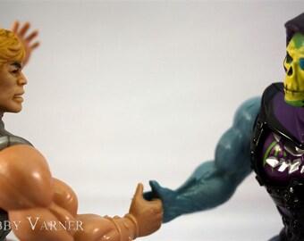 Thumb War He-Man Skeletor MOTU Fine Art Photograph - Free Shipping in US -