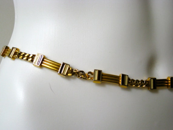 Reserved Amazing Vintage 1960s Gucci Gold and Enamel Belt/Necklace